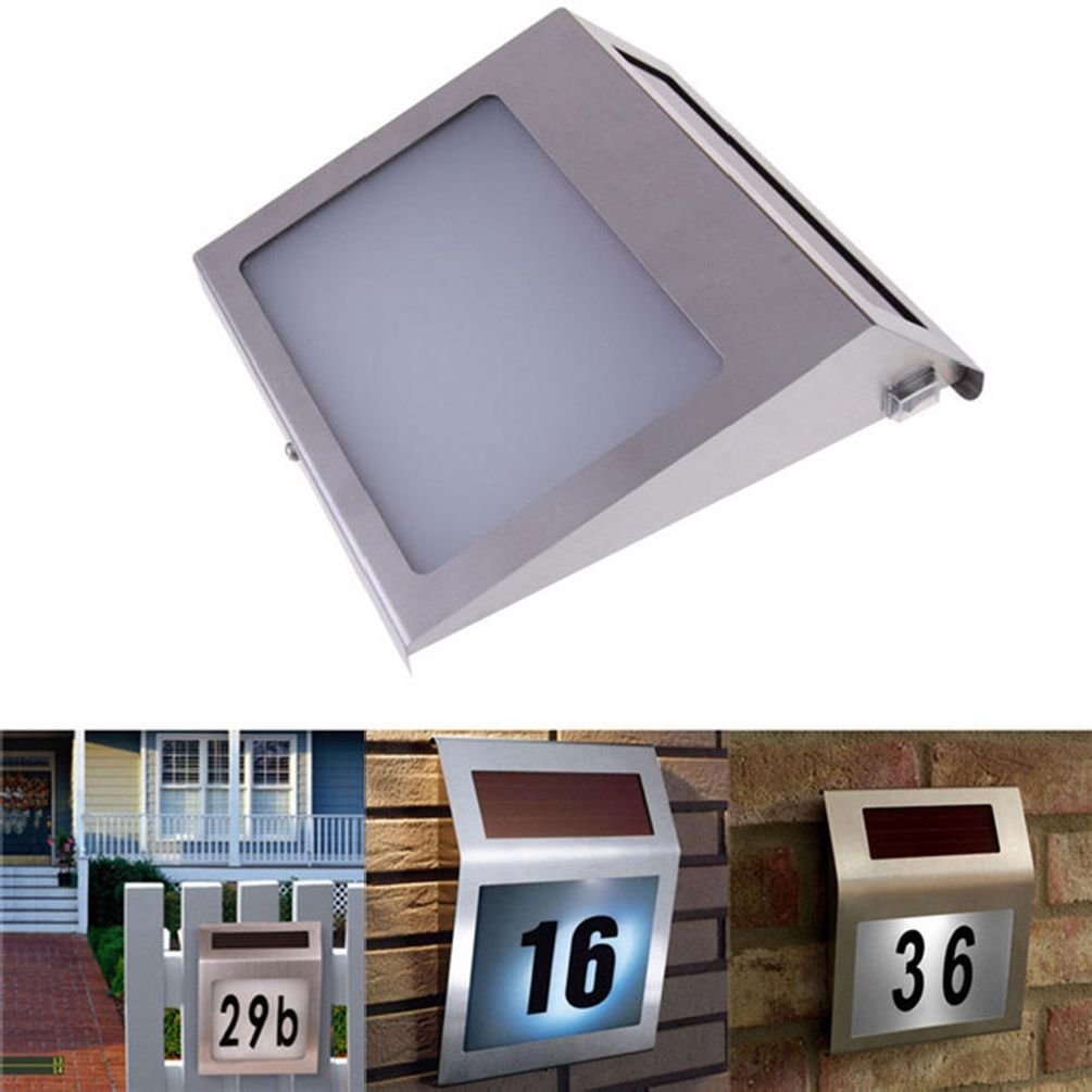 Solar Number Light 3 And Solar Door Plate Solar Steel Solar Doorplate Numbler