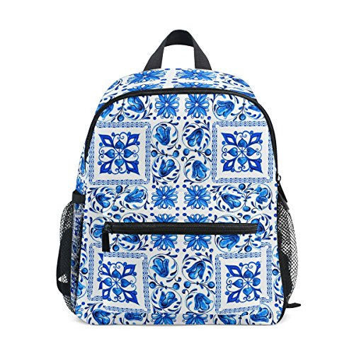 ZZKKO Bohemian Italian Kids Backpack School Book Bag for Toddler Boys - Bag Bottle Park Paisley