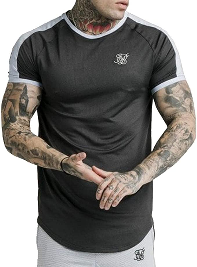 Sik Silk - SS 15605 Eyelet Tech tee - Camiseta Manga Corta - Hombre: Amazon.es: Ropa y accesorios