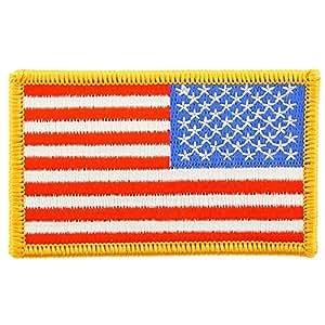 """FindingKing bandera americana brazo derecho Parche Amarillo frontera 2""""x 31/4"""""""