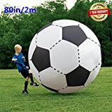 80In Over Sized Giant Inflatable Beach Football Floating Pool Soccer Ball for Party Play Game Toy