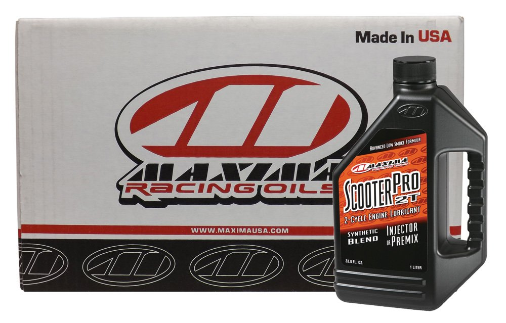 Maxima CS27901-12PK Scooter Pro 2-Stroke Synthetic Premix/Injector Engine Oil - 1 Liter Bottle, (Case of 12) by Maxima