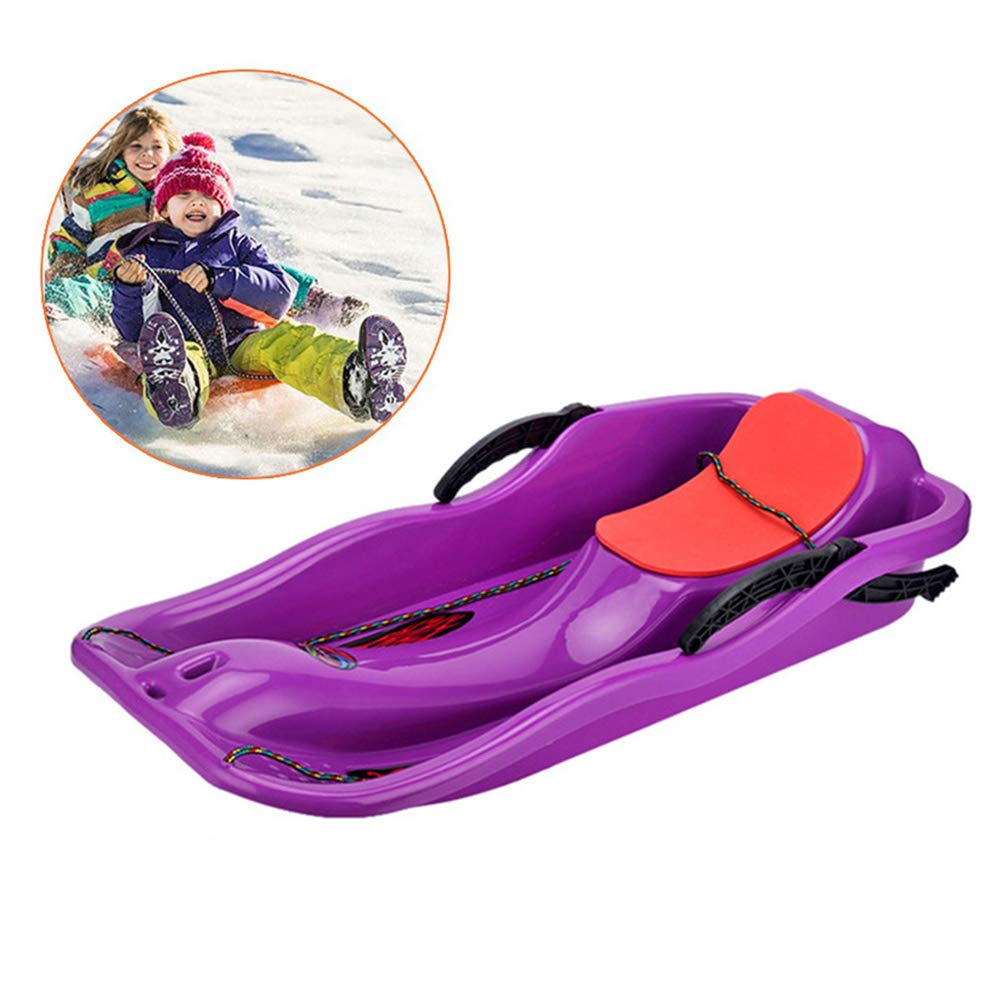 Coolcycling Downhill Sprinter Winter Toboggan Snow Sled,Baby Pull Sled Sled Slider Snow Screamer, KidsAdults Outdoor Sport Snow Sled Toboggan- Variety of Colors Available