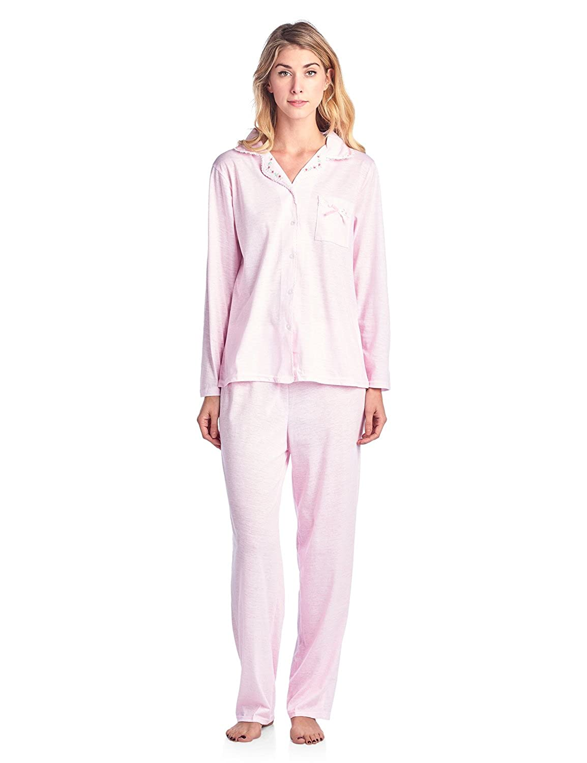 Casual Nights Women's Sleepwear Long Sleeve Floral Pajama Set