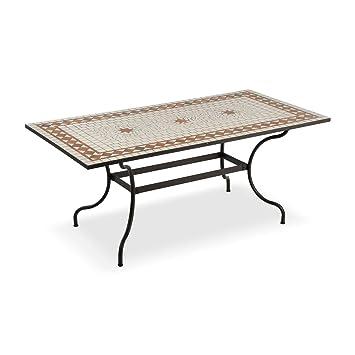 Table rectangulaire pour l\'extérieur avec mosaïque en céramique ...