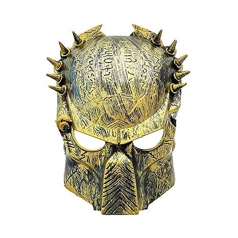 Leegoal Máscara de Cabeza para Fiesta Halloween con Miedo Terror, Careta Creativo para Adultos Unisex