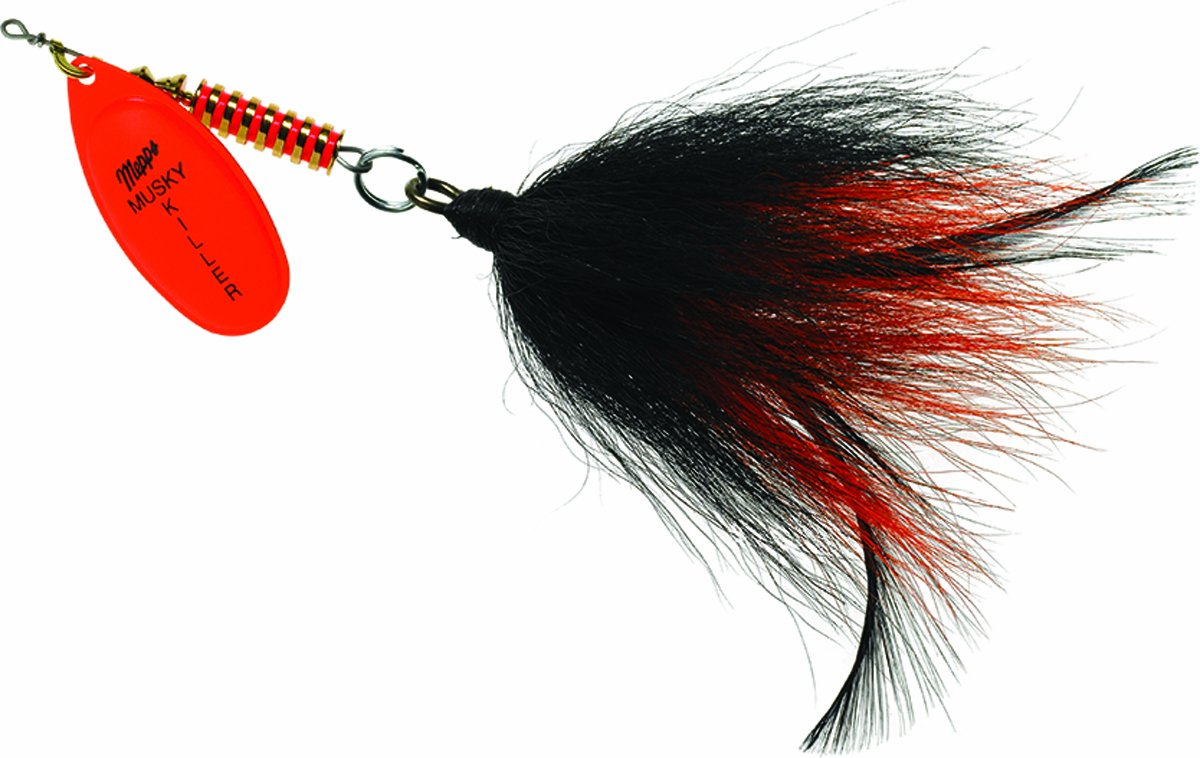 Mepps BM HO-BO MuskyKiller-Bucktail, 3/4-Ounce, Hot Orange by Mepp's