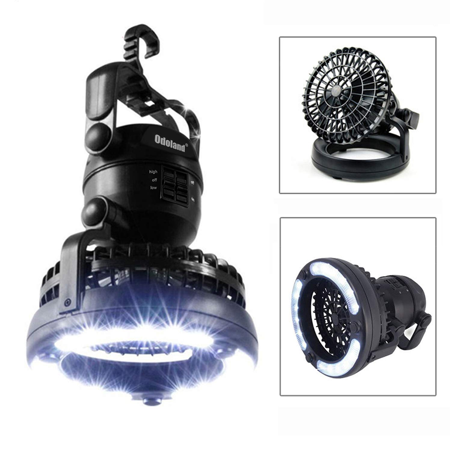 IMAGE Portable LED Camping Lantern with Ceiling Fan - Hurricane Emergency Survival Kit by IMAGE