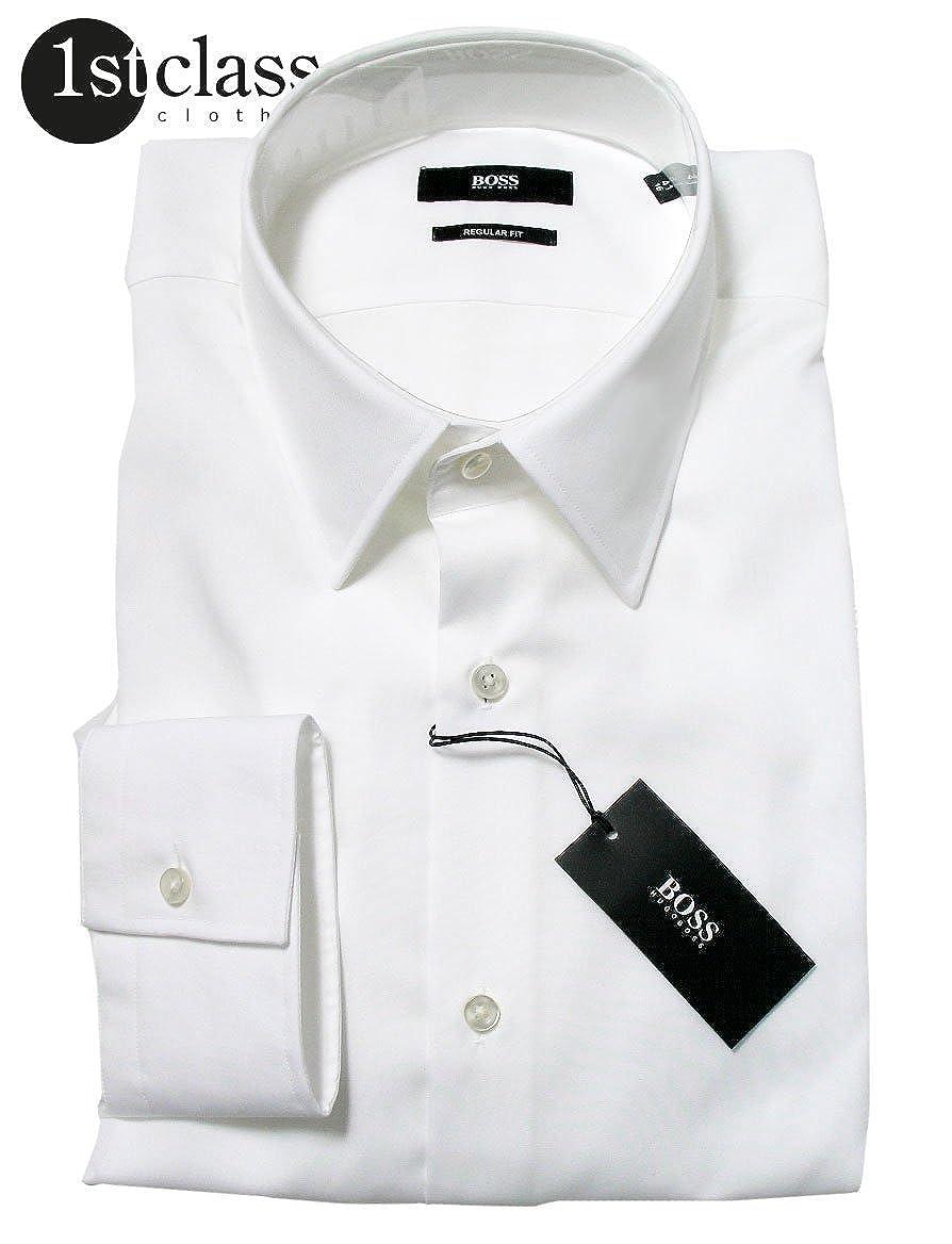 70d8b7f77f4 Hugo Boss - Camisa Formal - Normal - para Hombre Blanco Small  Amazon.es   Ropa y accesorios