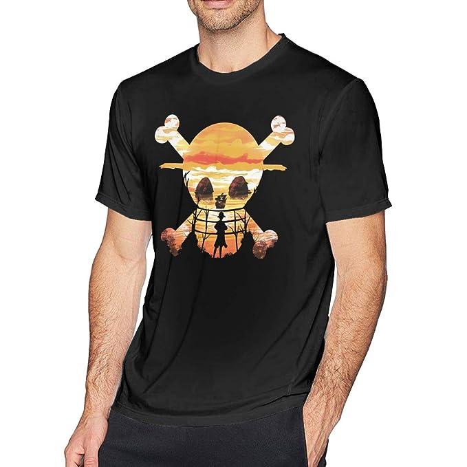 4d8f7847 Amazon.com: Hodenr Mens Vintage One Piece Anime Straw Hat Crew T ...