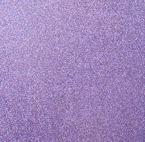 Lepidolite Purple Glitter Cardstock, by Paper Supply Station 15 Identical Sheets 12x12, Sticker Free Backing Brand - making it easy to use 100% of cardstock