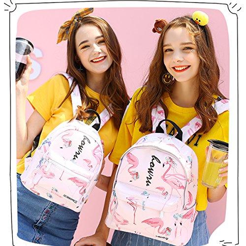 Informal Backpack Top amp; Canvas For Pink New Bag Girls Nicole School Durable L Handle Light Doris Bag Backpack 8YwqOd