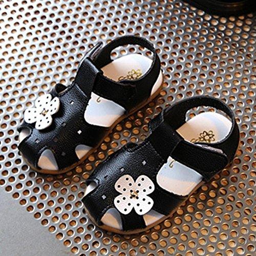 IGEMY Baby Mädchen Blume Casual Sandalen Kinder Mode Sneaker Kinder Schuhe Schwarz