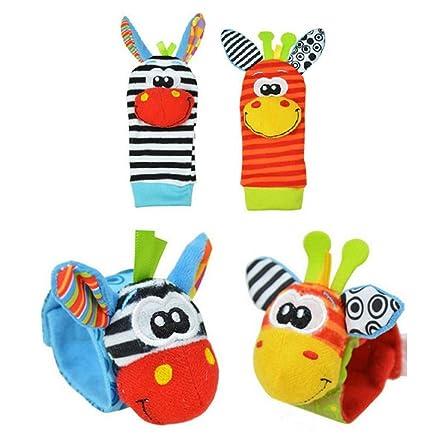 Atommy Calcetines de pulsera para bebés Animal Watch Band Small Bell Bells  Baby recién nacido Juguetes 455ad420729