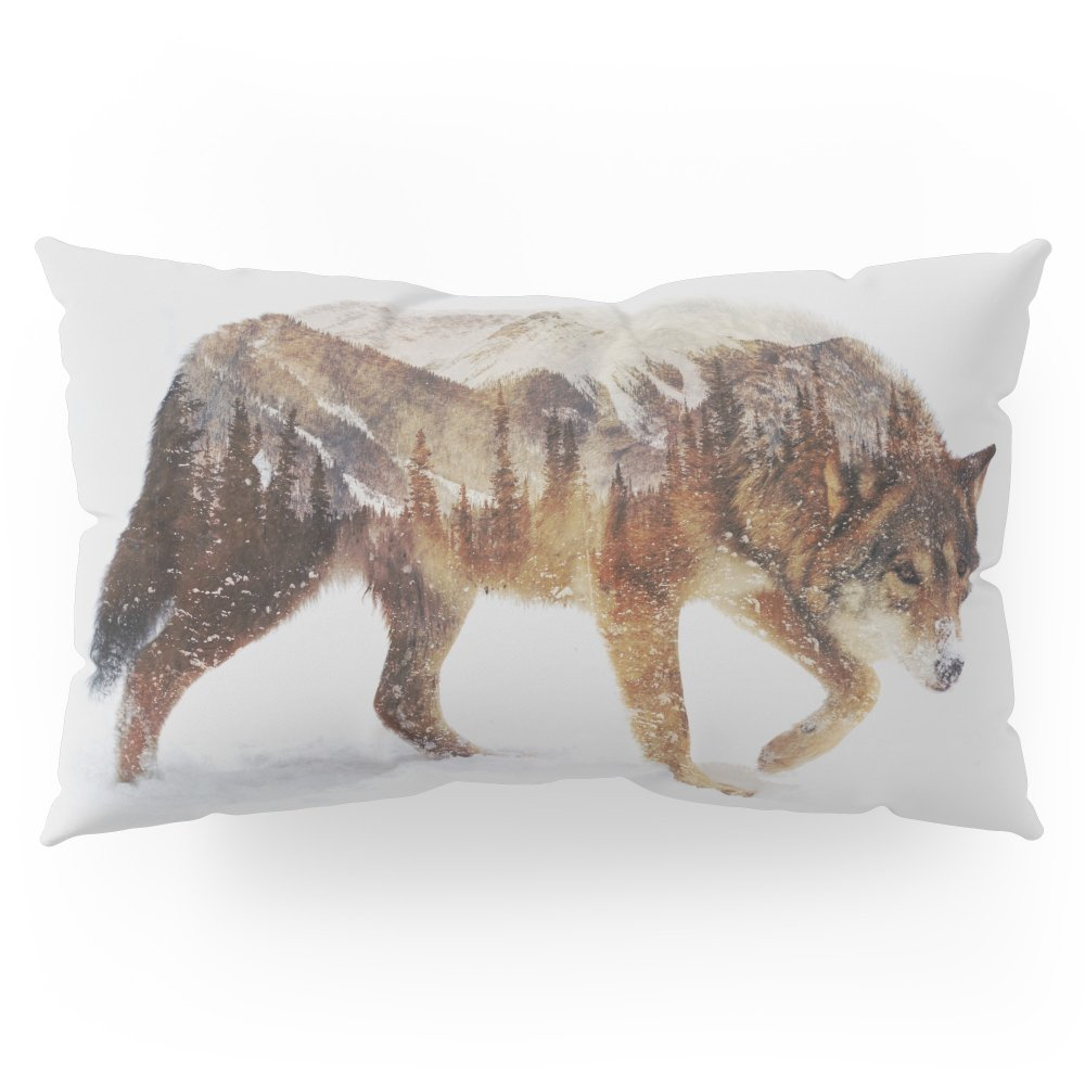 Society6 Arctic Wolf Pillow Sham King (20'' x 36'') Set of 2