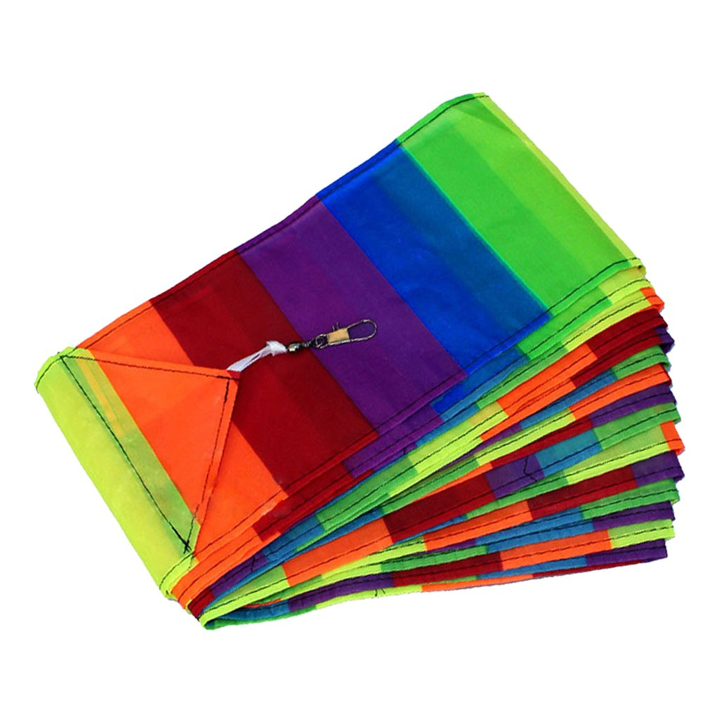 Jili Online 10m Rainbow Kite Tail for Kids and Adults Easy Flyer for Beginners Software Kite for the Beach Best Summer Toys for Outdoor Games Activities