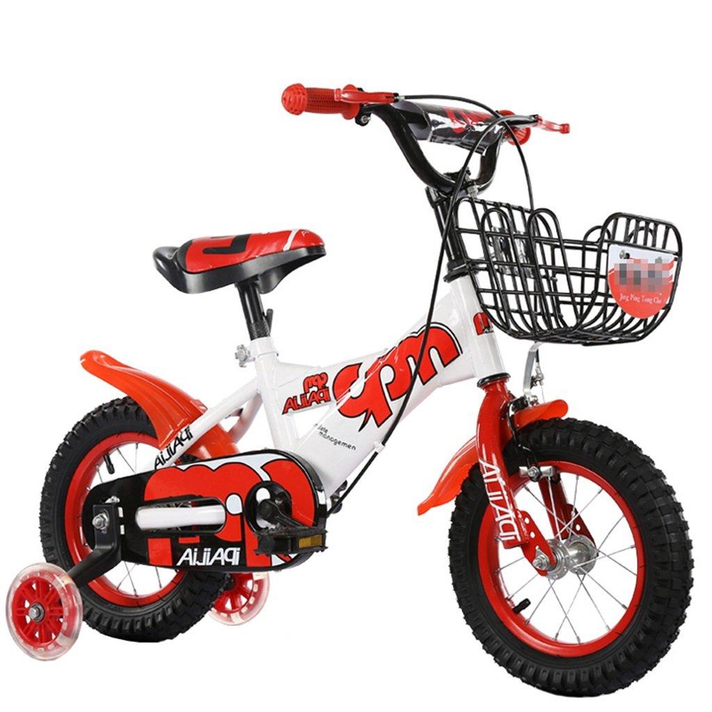KANGR-子ども用自転車 子供の自転車適切な2-3-6-8男の子と女の子子供のおもちゃアウトドアマウンテンバイクのハンドルバー/サドルの高さは、フラッシュトレーニングホイールで調整できます-12 / 14/16/18インチ ( 色 : 赤 , サイズ さいず : 18 inch ) B07BTWWWV6 18 inch|赤 赤 18 inch