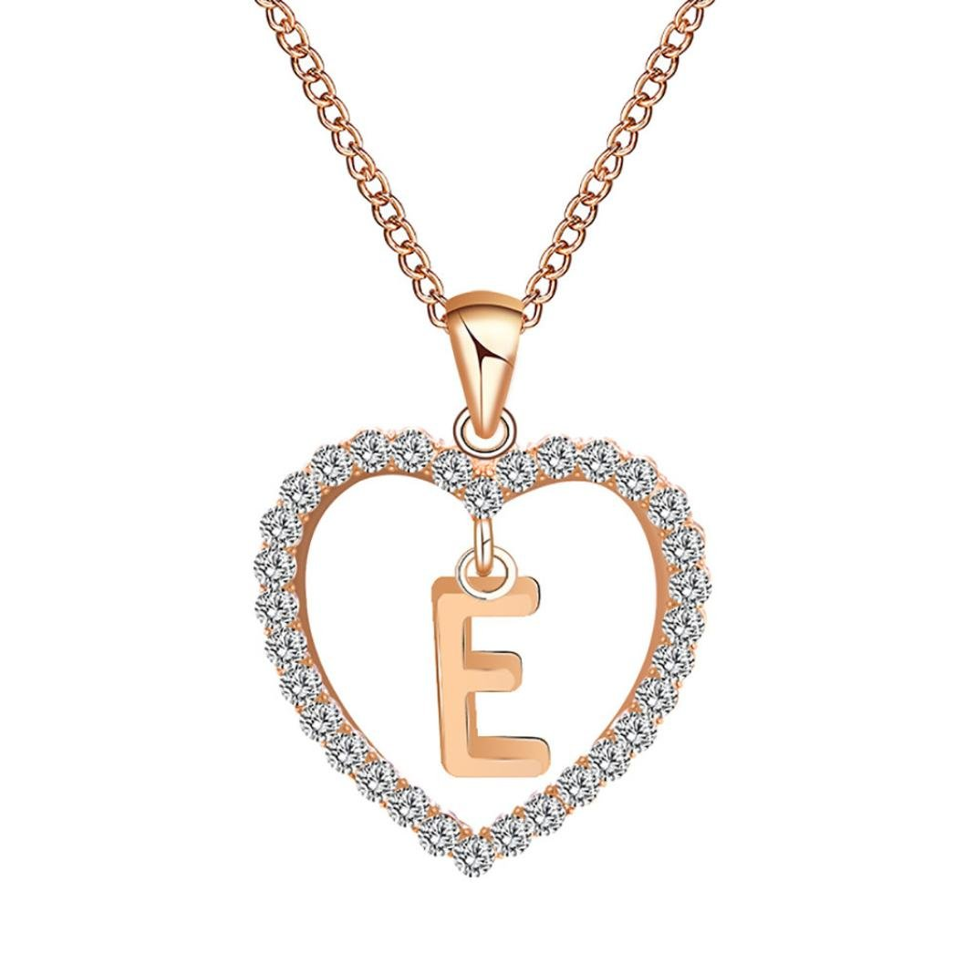 98362bd85 Amazon.com: Botrong® Letter necklace ❤ Fashion Fashion Women Gift 26  English Letter Name Chain Pendant Necklaces Jewelry (A): Jewelry