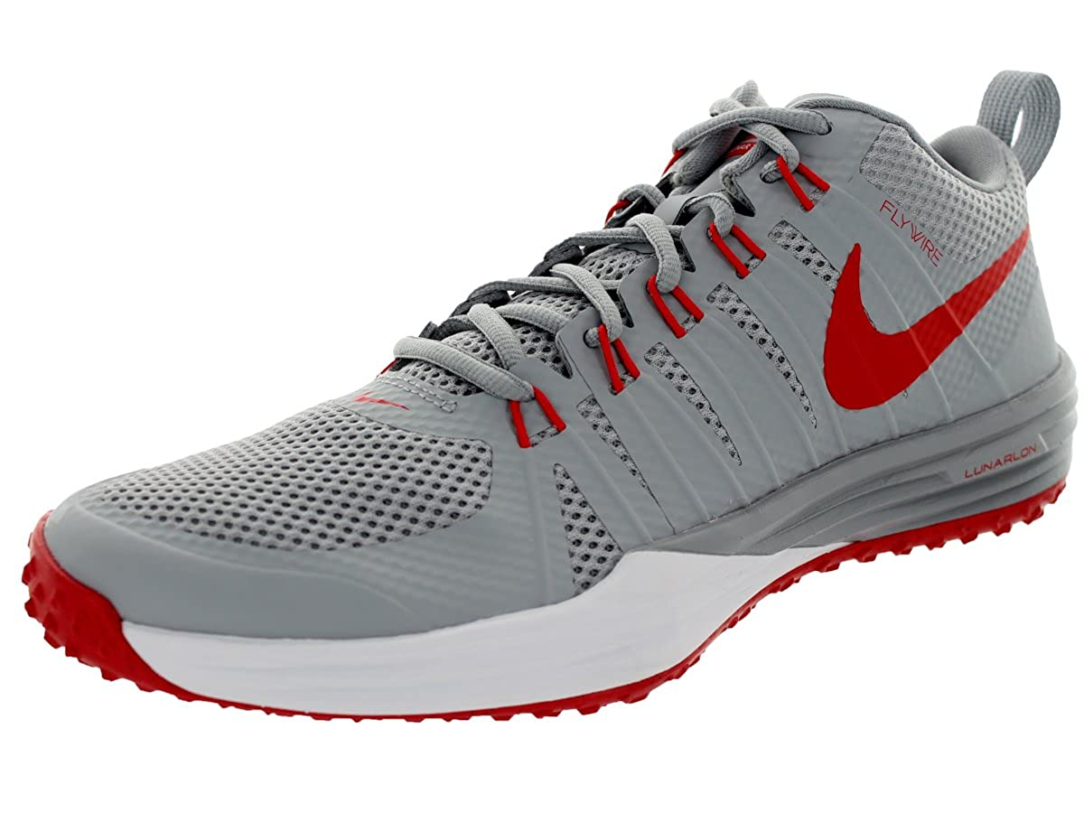 official photos 3e192 14435 Amazon.com   Nike Men s Lunar Tr1 Wlf Gry Lt Crmsn White Mtllc Training  Shoe 9.5 Men US   Fitness   Cross-Training