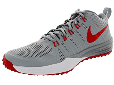 outlet store 99dec b0070 Nike Men s Lunar Tr1 Wlf Gry Lt Crmsn White Mtllc Training Shoe 9.5