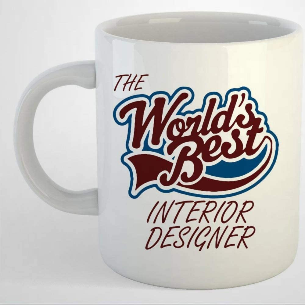 Amazon Com The Worlds Best Interior Designer Coffee Mug Ceramic Mug Cup For Office And Home Tea Milk Birthday For Her Or Him Kitchen Dining