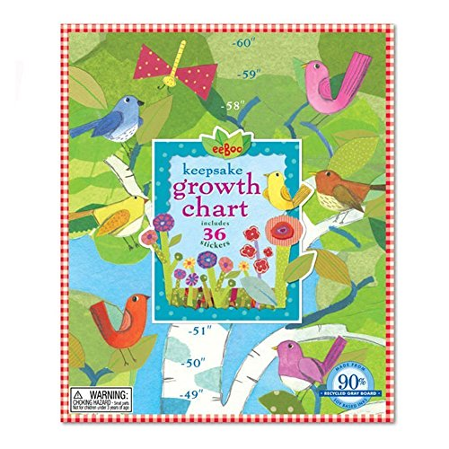 Birds in a Birch Growth Chart - Growth Chart Eeboo