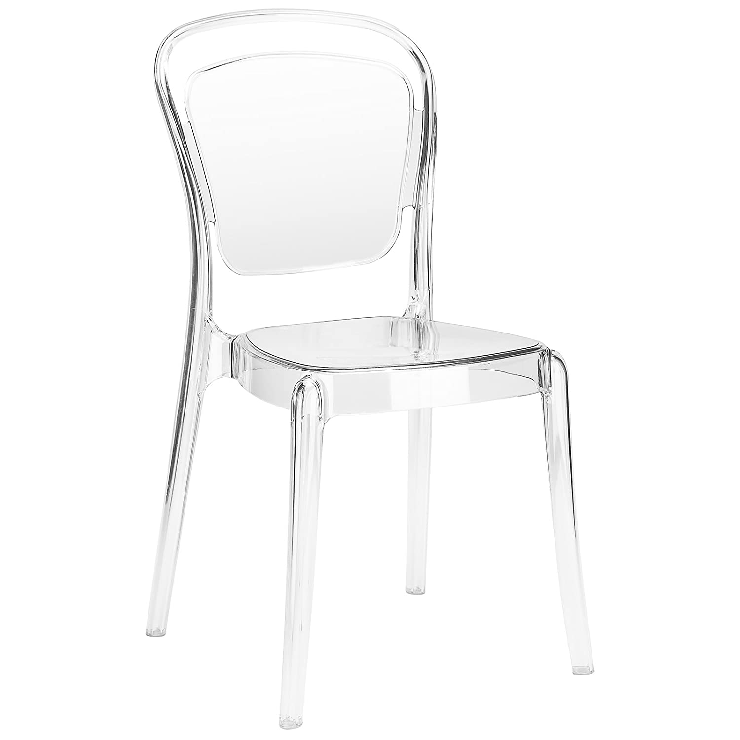 Poly and Bark Lucent Dining Side Chair Set of 2 , Clear