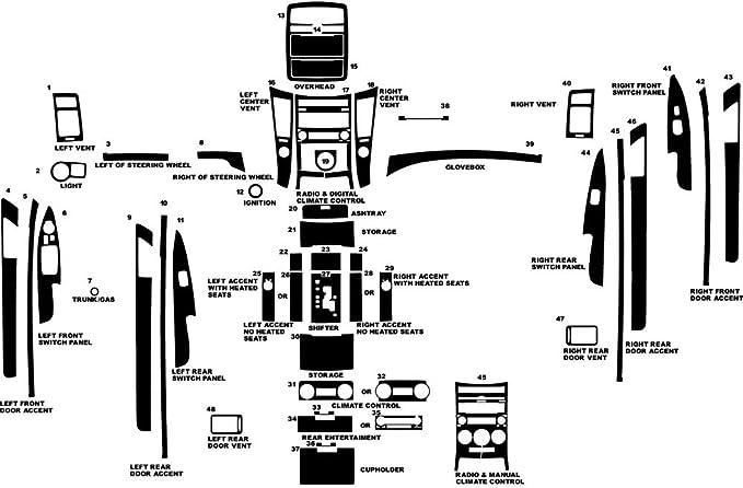 Wood Grain Rvinyl Rdash Dash Kit Decal Trim for BMW X5 2007-2013 Zebrano Mahogany