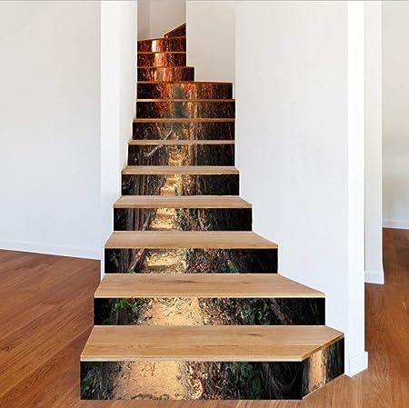 ZHOUHAOJIE Pegatinas para Escaleras 13 Piezas De La Hoja De Arce Senderos Decorativos Adhesivos Vinilo 3D DIY Calcomanías Autoadhesivas Murales Escalera Decoración De La Casa: Amazon.es: Hogar