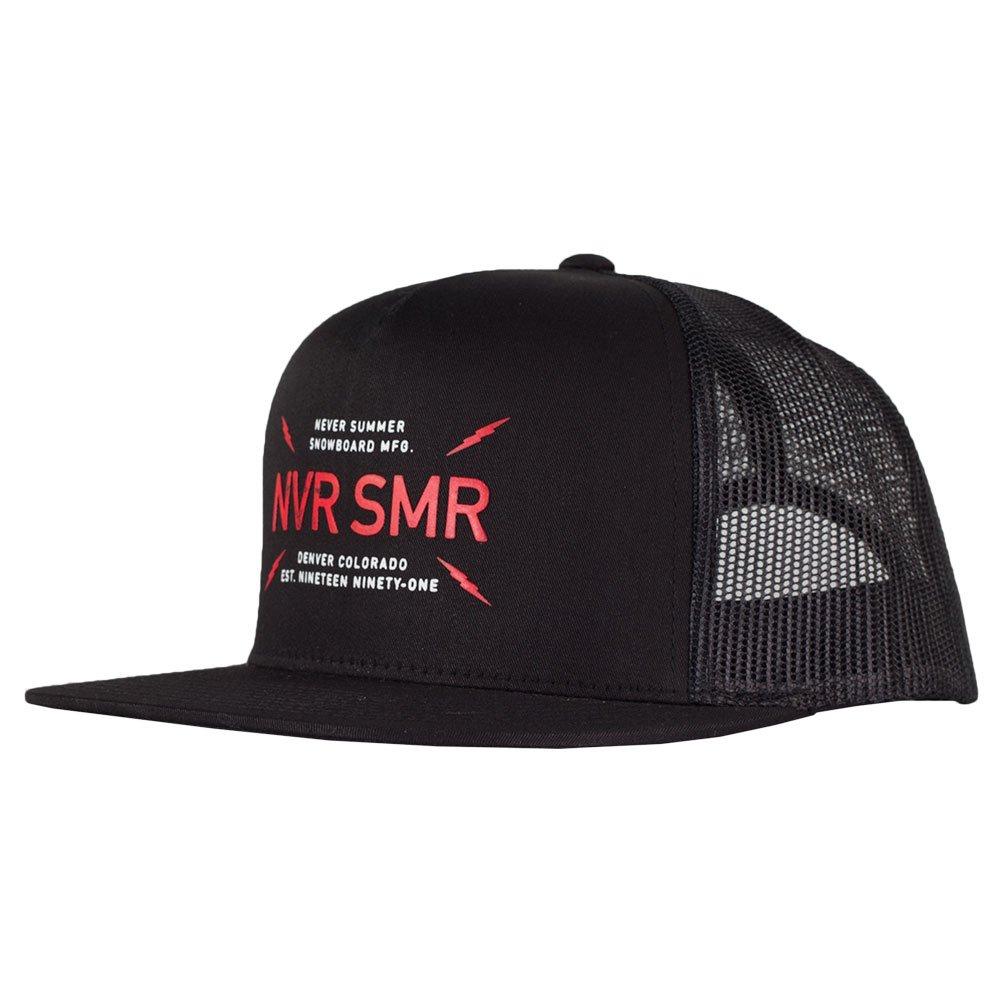 cb417e4654895 Never Summer Bolts Trucker Hat - Black at Amazon Men s Clothing store