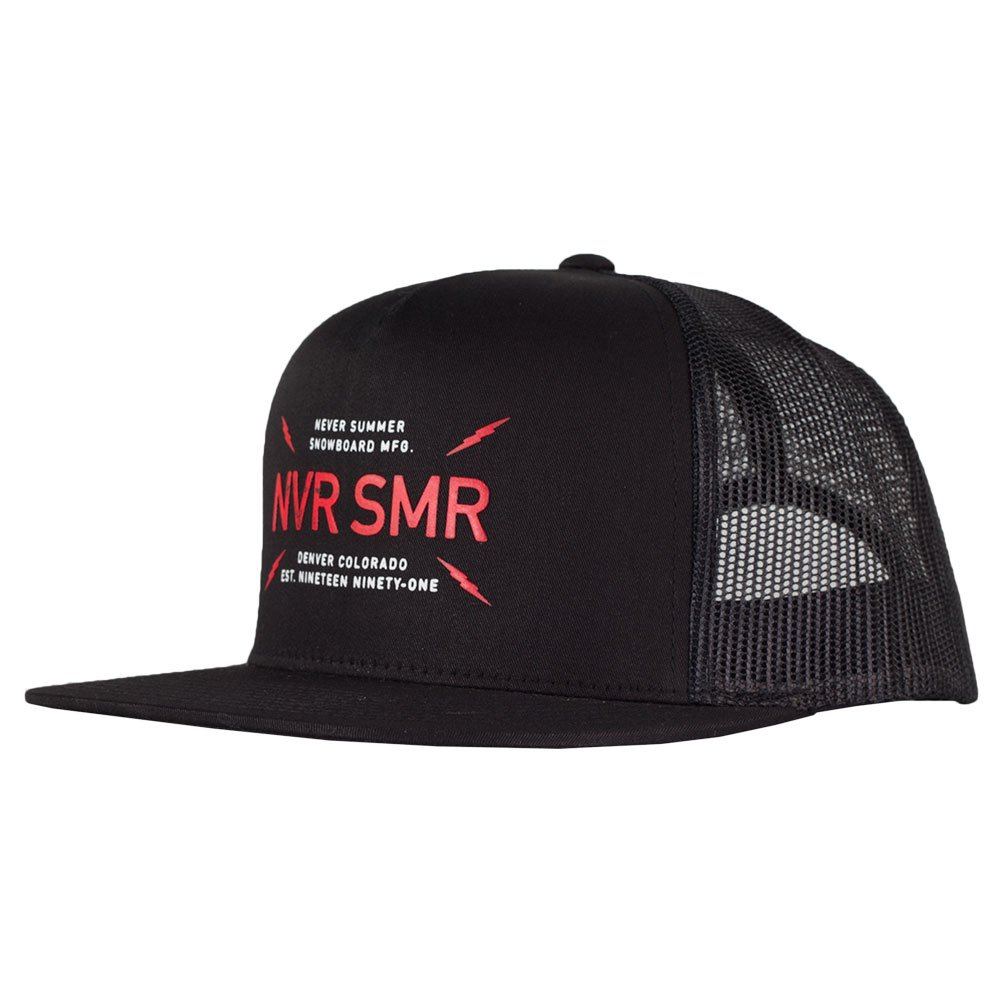 Never Summer Bolts Trucker Hat - Black