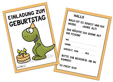 Kindergeburtstag T Rex Lustig Jungen Geburtstag Einladung Dino