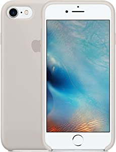 Silicone Case for iPhone 8, iPhone 7 and iPhone SE 4.7 inch - Slim Fit Soft Touch Silicone Gel Rubber Bumper Full-Body Protective Shockproof Cover Case - Stone