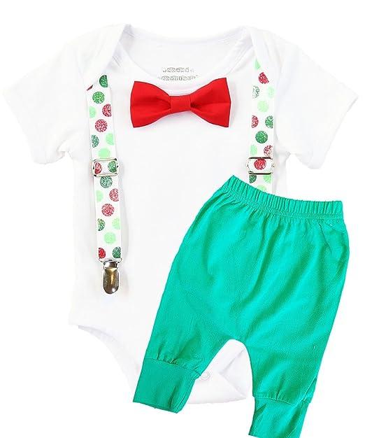 Amazon.com: Del boytique de Noé bebé niños Navidad Ligueros ...