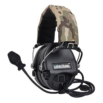 Al aire libre Radio Z-Tactical Z111 Sordin estilo cancelación de ruido Auricular PTT Juego