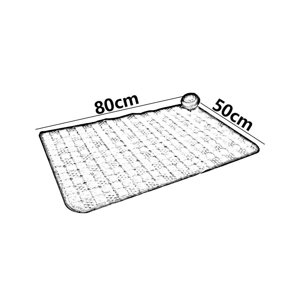 XXIOJUN-Tappetino doccia con Con Antiscivolo Morbido Trasparente Foldable Facile da Pulire PVC Vasca da Bagno 3 Dimensioni 4 Colori Colore : Verde, Dimensioni : 70x36cm
