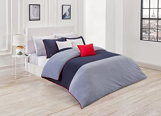 Amazon Com Lacoste L 12 12 Comforter Set Blue Twin Twin Extra