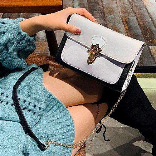 Patchwork Sacs Sacs Fille Blanc pour Bandoulière Cuir PU Cabina en Élégantes à Handbags épaule Portés Chain La Messenger Femmes Petit w6YFUxYE
