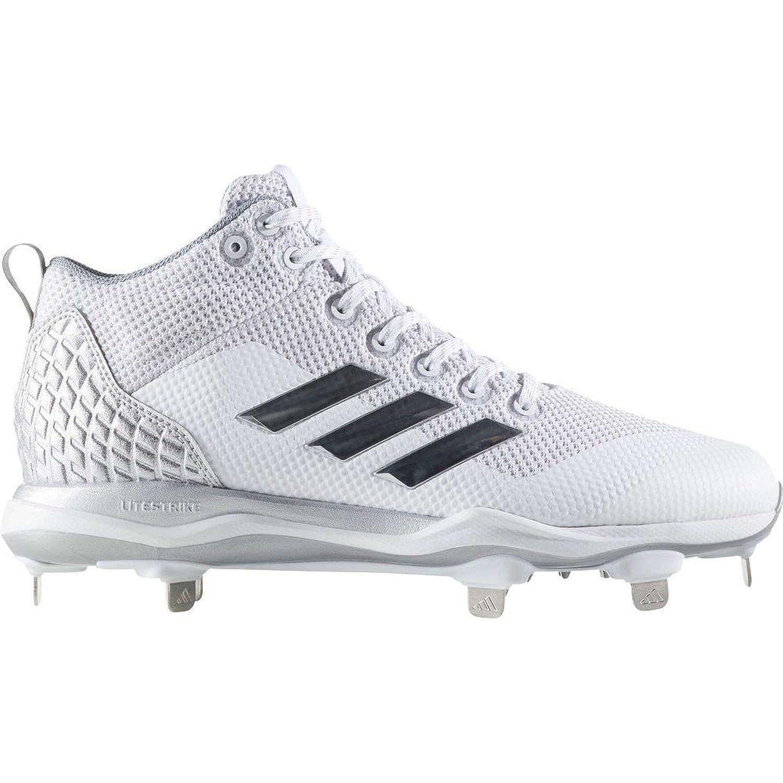 (アディダス) adidas メンズ 野球 シューズ靴 adidas Poweralley 5 Mid Metal Baseball Cleats [並行輸入品] B077Y274YV