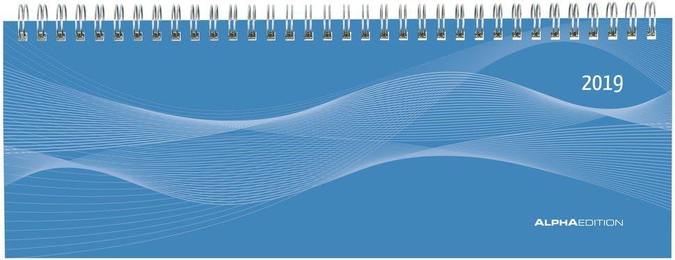 Agenda Settimanale Blu 2019, 29,7X10,5 Cm