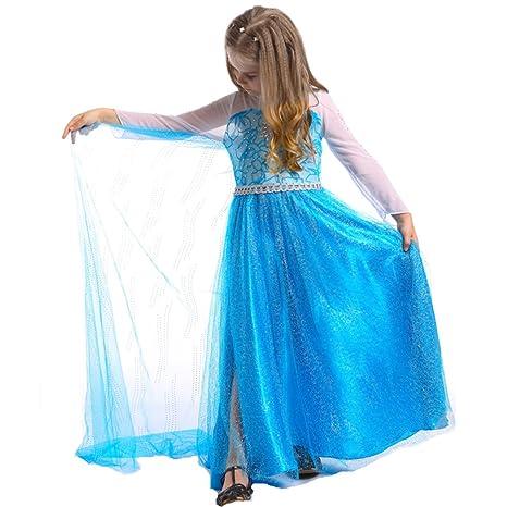 iikids Vestido del invierno u otono de la linda vestido de princesa para festa cosplay navidad
