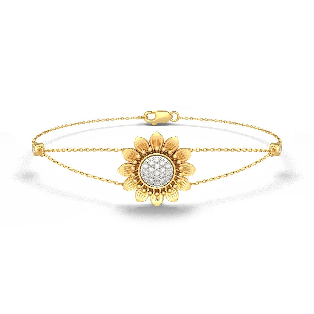 IJ| SI identification-bracelets Size 0.182 cttw Round-Cut-Diamond 6.5 inches 18K Yellow Gold