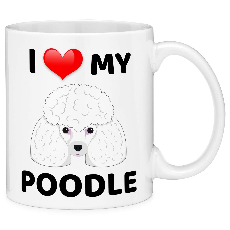 Mugvana I Love My Poodle Dog Animal Coffee Mug Cup Fun Novelty Gifts for Women and Men with Gift Box (11oz)