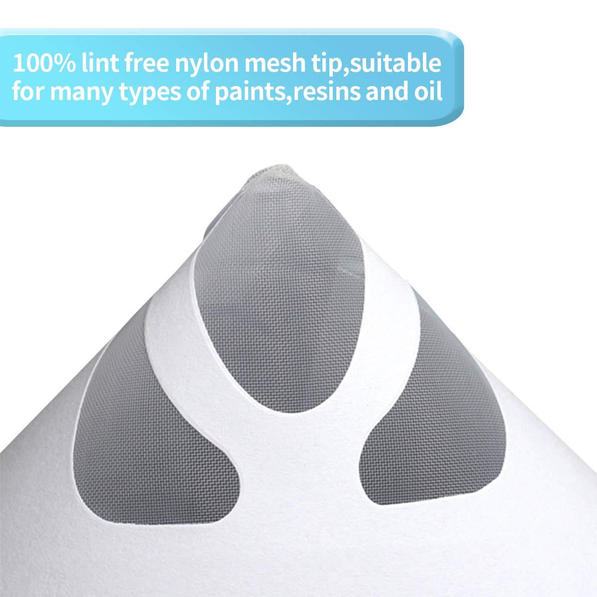 Jeteven 150 Unidades de coladores de Papel de Pintura Desechables con 1 Filtro de Silicona versi/ón actualizada