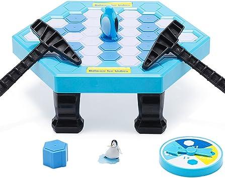 Ruikey Juegos de mesa de rompecabezas Cubos de hielo de equilibrio Guardar Pingüino Icebreaker Knock Ice Block Juego de escritorio interactivo para la fiesta de la familia: Amazon.es: Juguetes y juegos