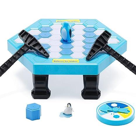 Ruikey Juegos de mesa de rompecabezas Cubos de hielo de equilibrio Guardar Pingüino Icebreaker Knock Ice