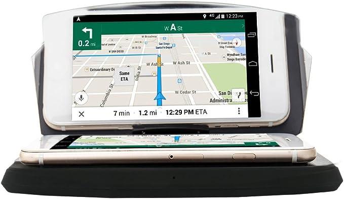 Cargador inalámbrico para Coche Qi Hud Head Up Display Holder GPS Navegación Carga Dock Soporte para teléfono Móvil GPS Navegación Imagen Reflector para iPhone X 8/8+ Samsung Galaxy S9: Amazon.es: Electrónica