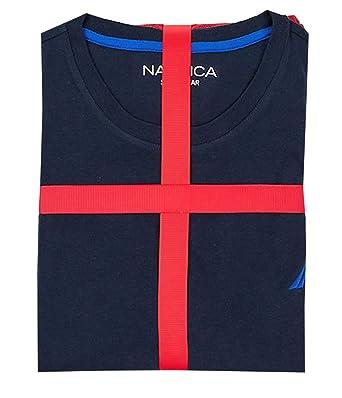 e055c3ce8ac1b0 Nautica Mens Holiday Pajama Set - Long Sleeve Tee   Knit Pants at ...