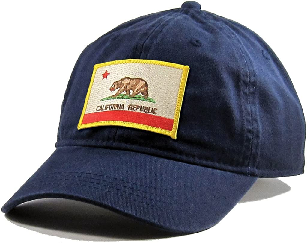 Homeland Tees Mens California Flag Patch Cotton Twill Hat