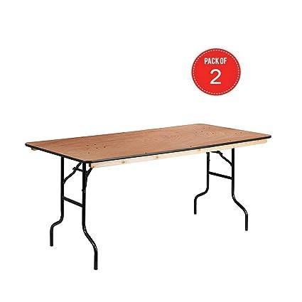 Amazoncom Flash Furniture 36 X 72 Rectangular Wood Folding